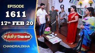 CHANDRALEKHA Serial   Episode 1611   17th Feb 2020   Shwetha   Dhanush   Nagasri   Arun   Shyam
