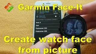 Garmin Face it - Create watch face from picture