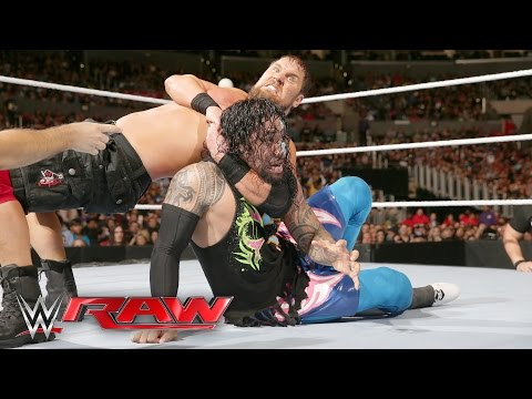 The Usos vs. The Social Outcasts - No. 1 Contenders' Tag Team Tournament: Raw, April 11, 2016