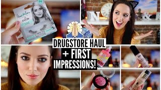 Drugstore Haul + First Impression Tutorial!