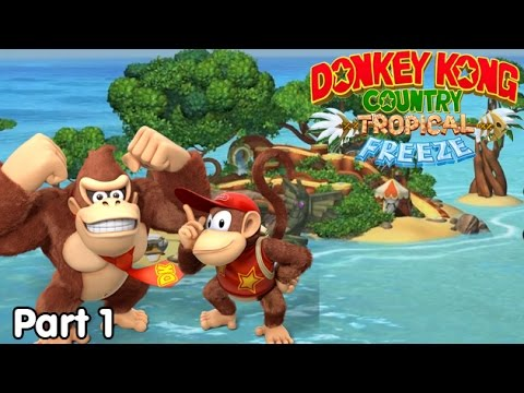 Slim Plays Donkey Kong Country: Tropical Freeze - #1. Wintery Kong Country