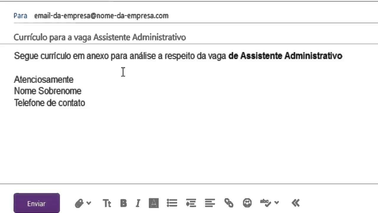 como enviar curr u00edculo por e mail o que escrever no assunto