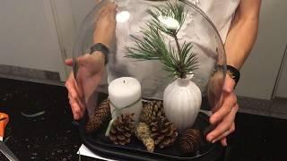 DIY CHRISTMAS DECO Jak zrobić stroik na Boże Narodzenie w kopule.