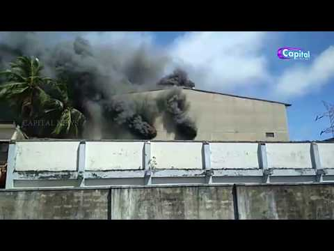 Fire at a clothing warehouse in Ratmalana
