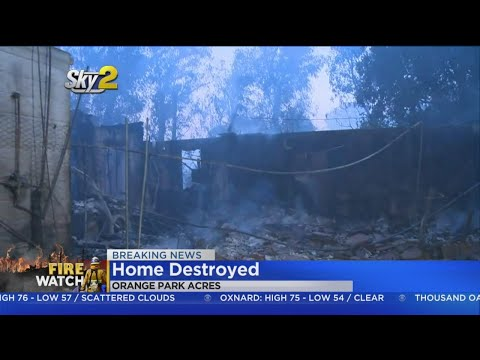 Homes Reduced To Smoldering Embers In Orange Park Acres