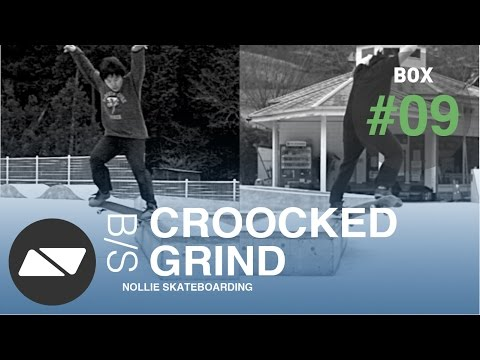 BACKSIDE CROOCKED GRIND [SKATEBOARDING BOX TUTORIAL #9.0]