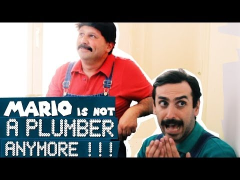 "REAL LIFE Mario: ""NOT A PLUMBER ANYMORE!!"""