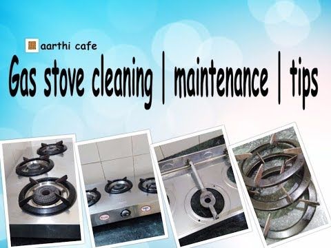 Gas Stove Cleaning | Maintenance | Tips | How to Clean Gas Stove at home with simple things