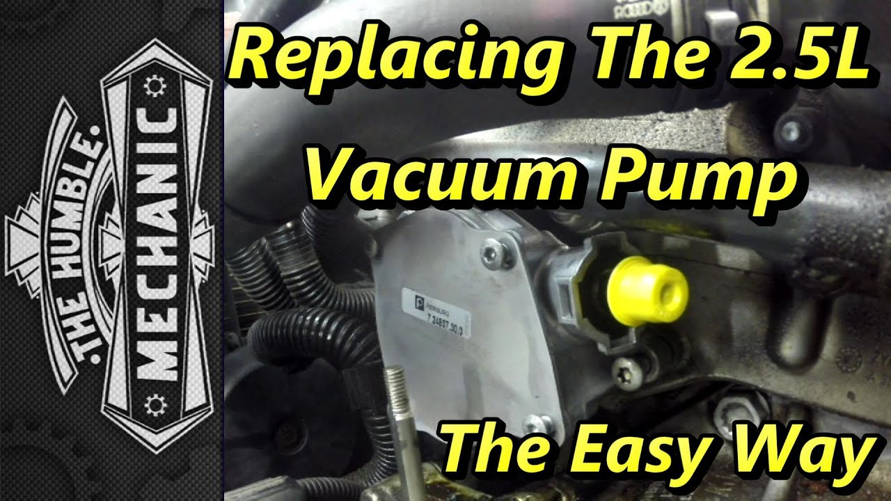 Replacing Vw 2 5l Vacuum Pump The Easy Way Youtube