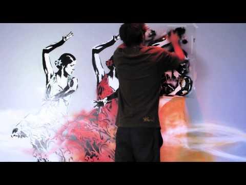 Stencil Mural Mathieu Bories / Art Factory, Buenos Aires