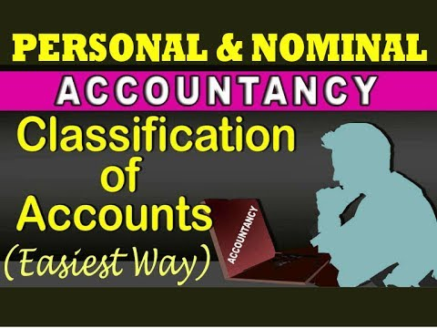 Classification of accounts - Personal and Nominal account in Hindi/हिन्दी (Easiest way) |PART-3|