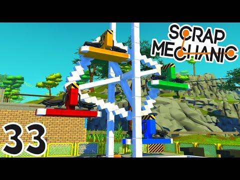 CONSTRUCTION D'UNE GRANDE ROUE ! | Scrap Mechanic ! #Ep33