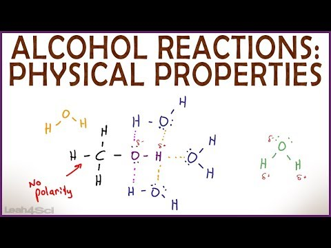 Physical Properties Of Alcohol: Hydrogen Bonding, Solubility And Boiling Point