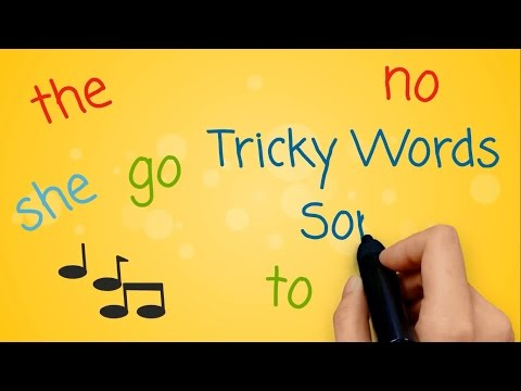 Tricky Words And Sight Words Song