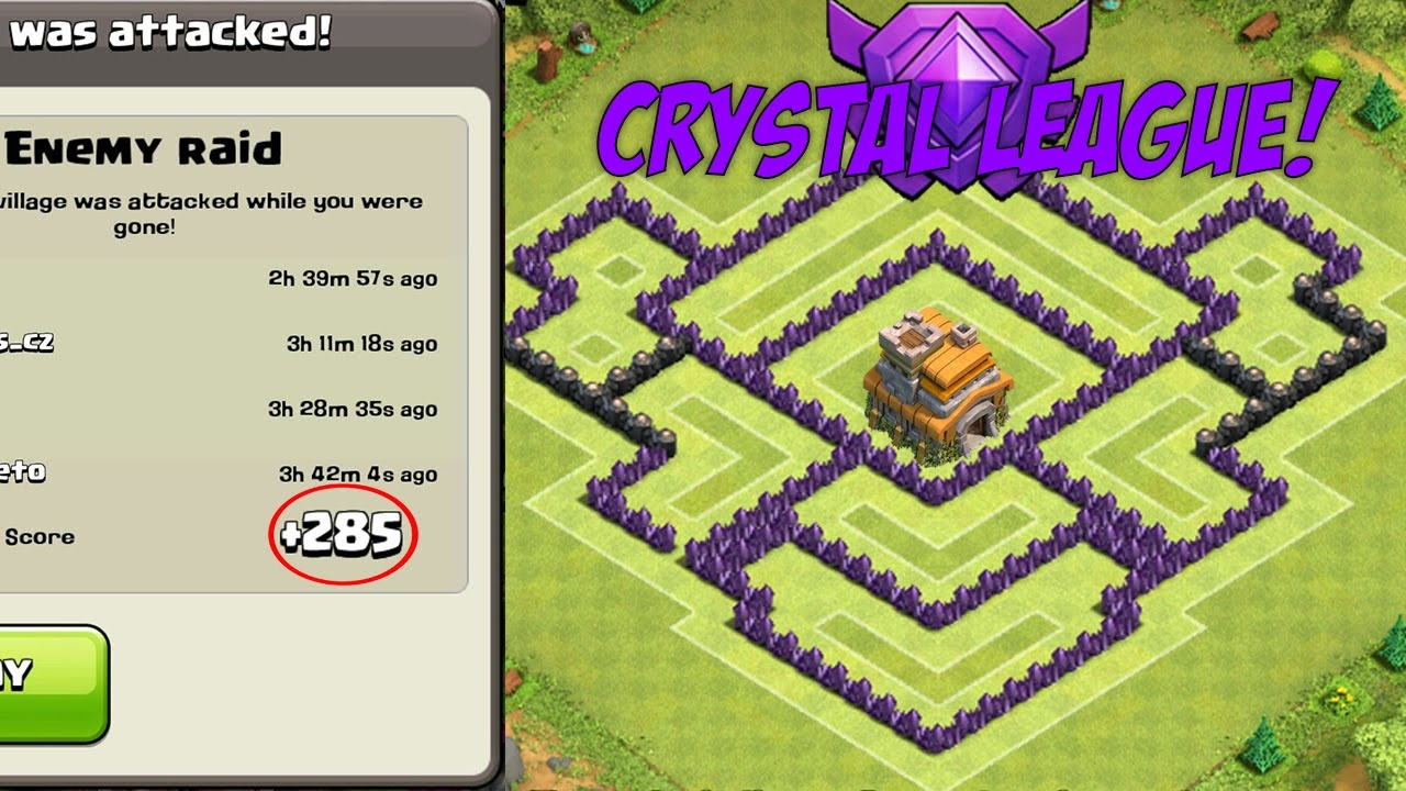 Coc Best Th7 Trophy Base With Air Sweeper Clash Of Clans Town Hall 7 Defense 2015 Youtube
