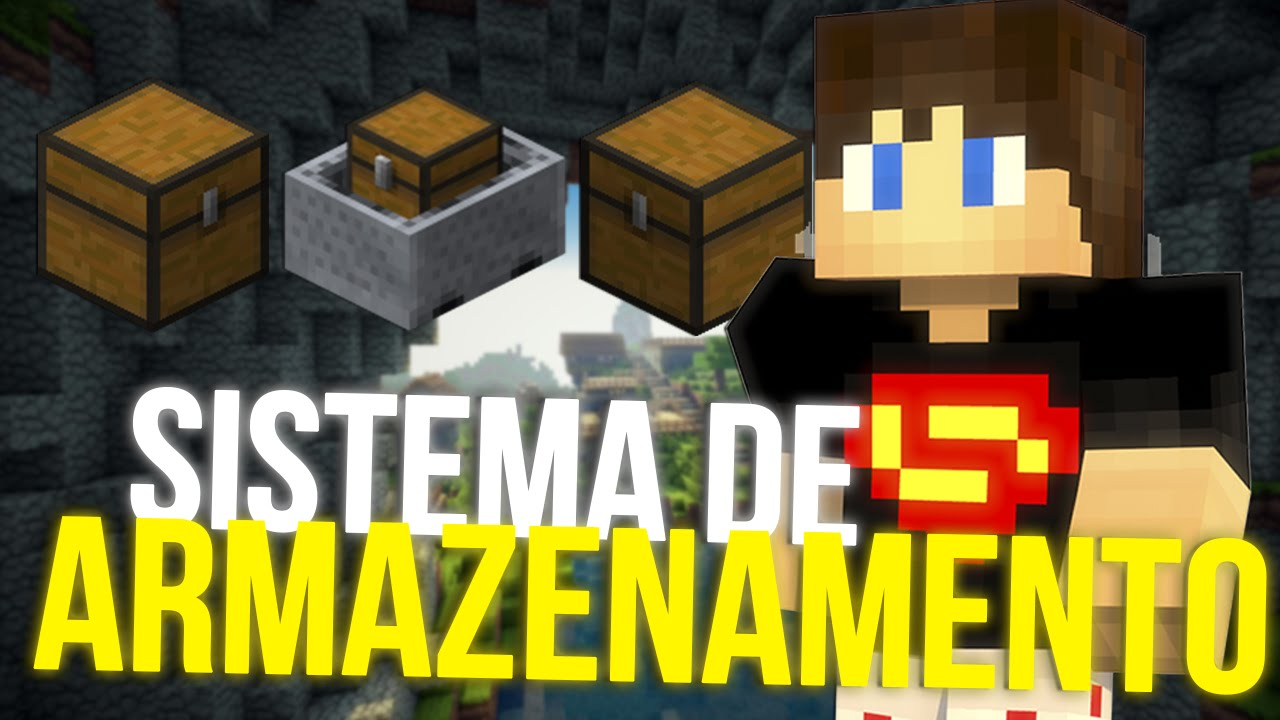 (MINECRAFT) SISTEMA DE ARMAZENAMENTO + DOWNLOAD - TUTORIAIS DE REDSTONE #22 - (MINECRAFT) STORAGE SYSTEM + DOWNLOAD - REDSTONE TUTORIALS # 22