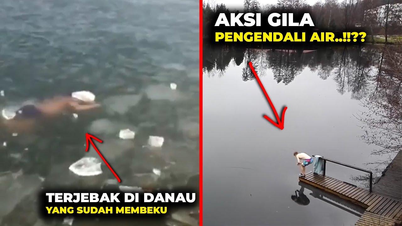 AUTO NYESEL...!!?? Terjebak Di Danau Yang Membeku,,, Pria ini Bikin Temen²nya Panik #YtCrash
