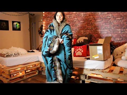 I Got Sh*t In The Mail : Spirit Hoods - Grey Wolf Faux Fur Throw