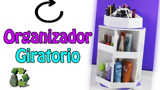 Organizador de maquillaje giratorio (Reciclaje)