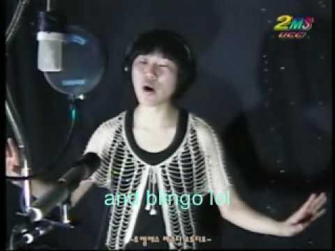 """Korean boy Fail / """"I'm pad of you"""" (Always be my baby) karaoke singing / English subtitles"""