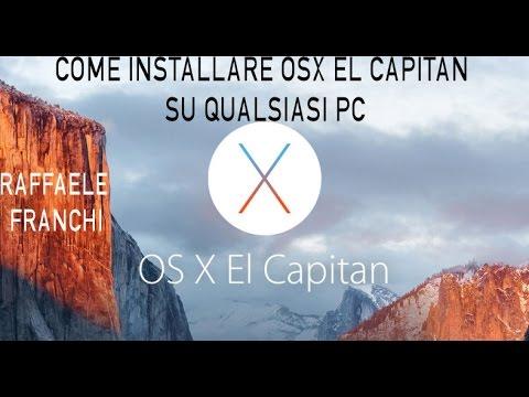 OS X EL CAPITAN SU CHIAVETTA SCARICA