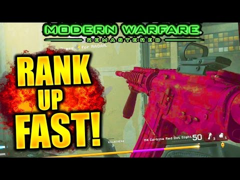 HOW TO RANK UP FAST IN MODERN WARFARE REMASTERED! LEVEL UP AND PRESTIGE FAST IN COD 4 REMASTERED!
