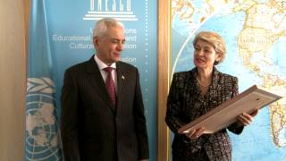 Meeting of the Director-General with Hamrokhon ZARIFI, Minister of Foreign Affairs of Tajikistan
