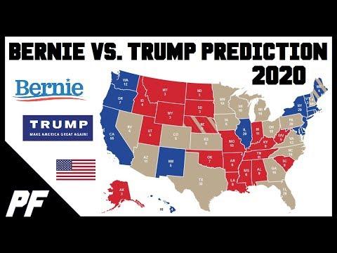Bernie Sanders Vs Donald Trump 2020 Map Prediction 2020 Electoral Map Projection