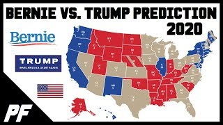 Bernie Sanders vs. Donald Trump 2020 Map Prediction - 2020 Electoral Map Projection