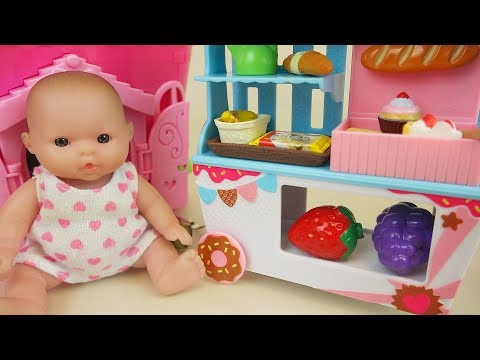Thumbnail: Baby doll and food cart house toys play