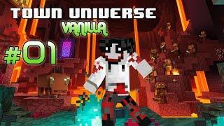 Town Universe Vanilla Bedrock: Mi Primera Vez SIN MODS #1 - 1.16.1