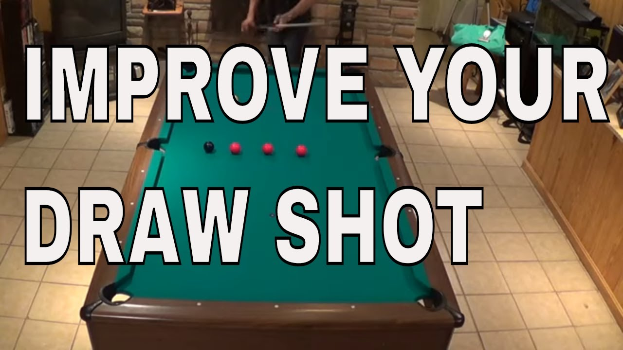 Pool Lessons ~ ADVANCED DRAW SHOT DRILLS ~ How to improve your powerful draw shot ~ 8 ball & 9 b
