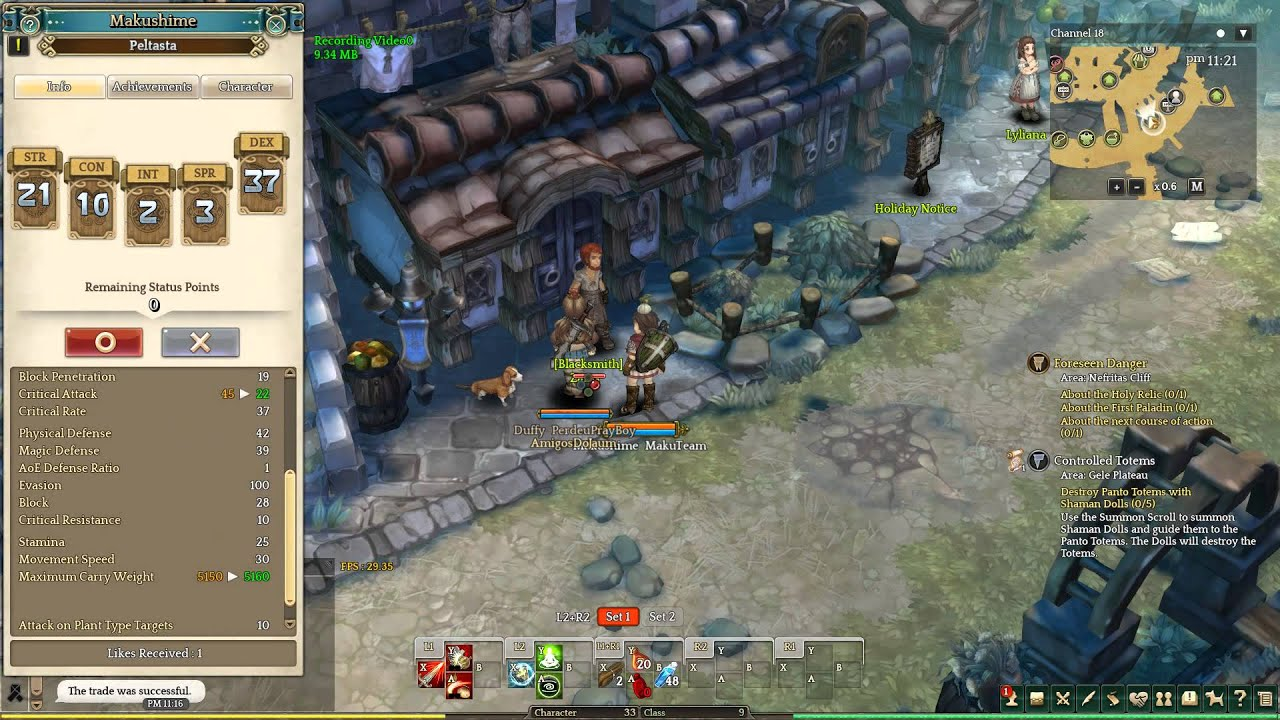 Tree of Savior - CBT2 - Adding status point displays weird effects previews