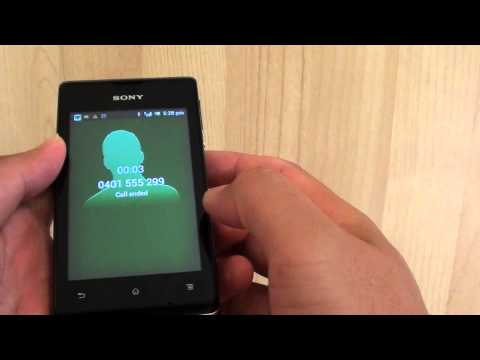 Sony Xperia E: How to Answer or Reject Incoming Phone Call
