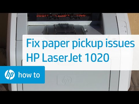 Fixing Paper Pick-Up Issues - HP LaserJet 1020 Printer