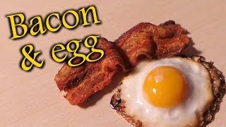 Polymer Clay Fried Egg & Bacon Tutorial