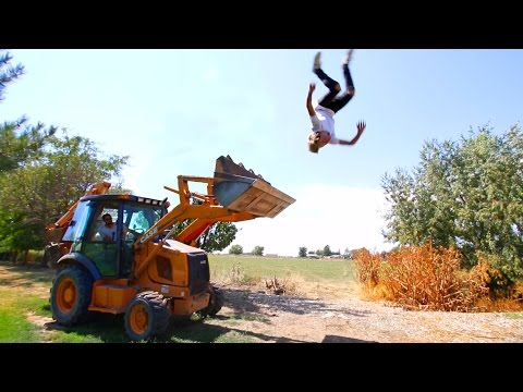 LAUNCHED OFF A TRACTOR!!