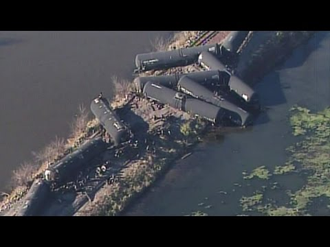Clean-Up Follows After Train Derailment In Wisconsin