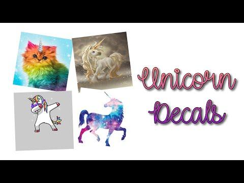 Roblox Bloxburg Unicorn Decal Id S Youtube