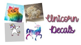 Roblox Bloxburg - Unicorn Decal Id's