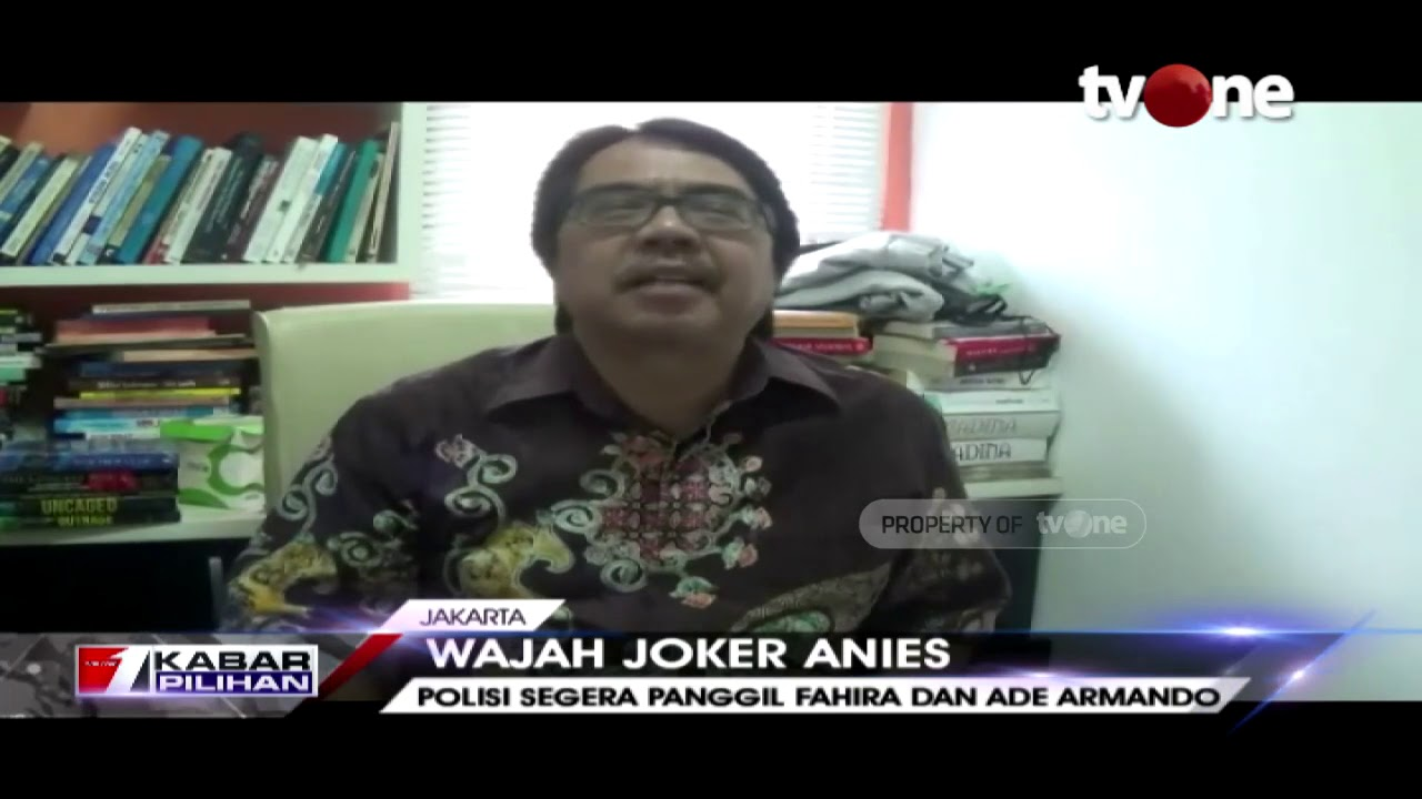 Hasil gambar untuk Video Ade Armando Laporkan Balik Fahira Terkait 'Wajah Joker Anies'