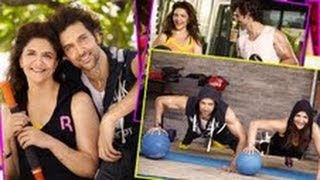 Hrithik Roshan and mother Pinky Roshan hit the gym together