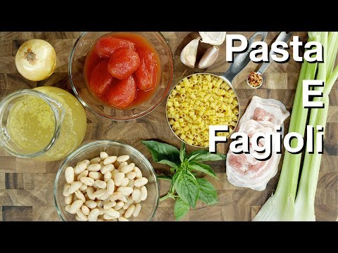🔵 Pasta E Fagioli (Beans and Pasta Soup) || Glen & Friends Cooking