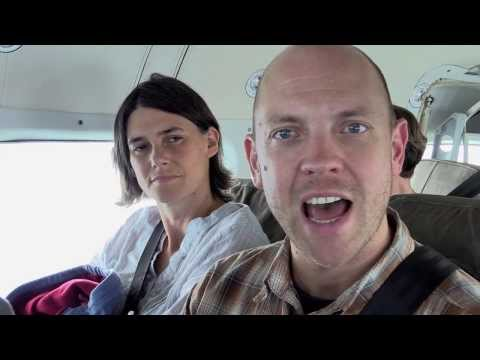 Stephen & Catherine on the plane to DR Congo