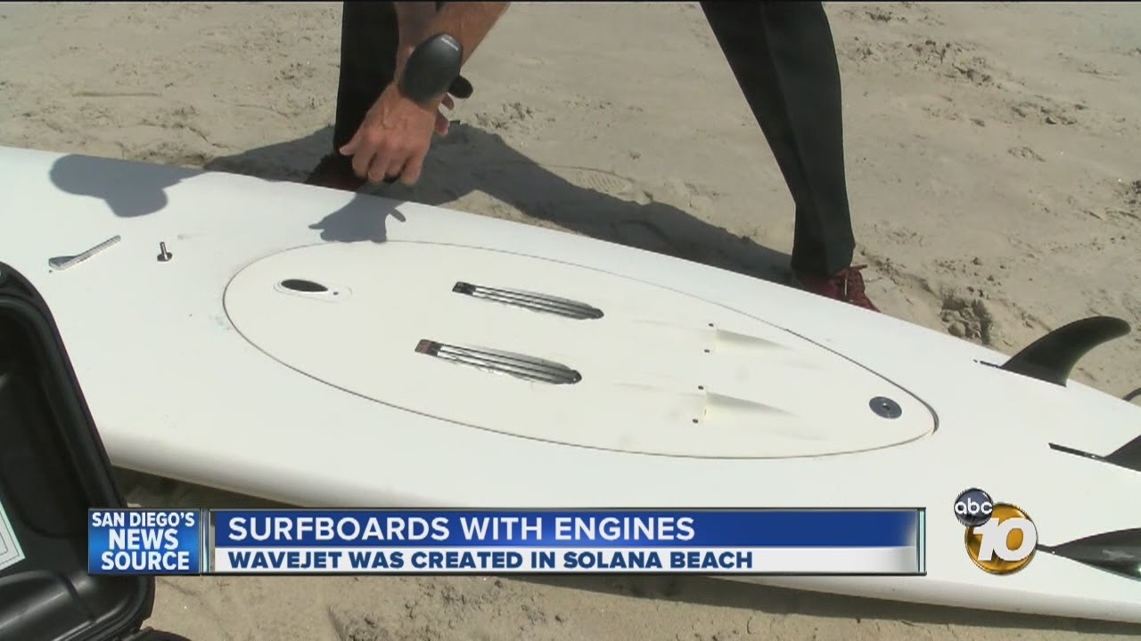 Local Inventor 39 S Engine Powered Surfboard Changing The