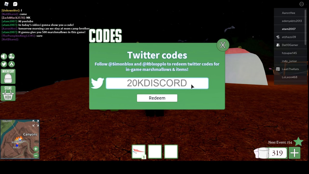 Codes For Backpacking In Roblox Code In Backpacking For June Youtube