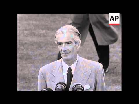 ANTHONY EDEN HOME FROM AMERICA AFTER ILLNESS