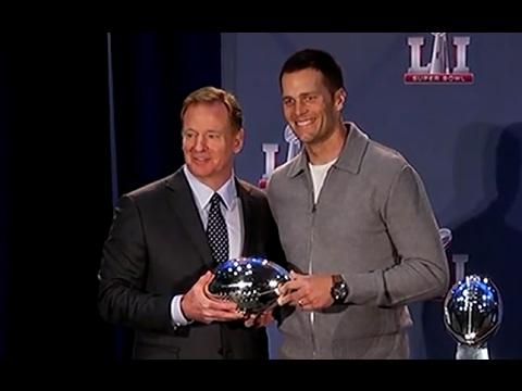 Roger Goodell Hands Tom Brady Super Bowl MVP Trophy | ABC News