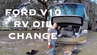 RV Oil Change Ford V10 RV - F53 Chassis