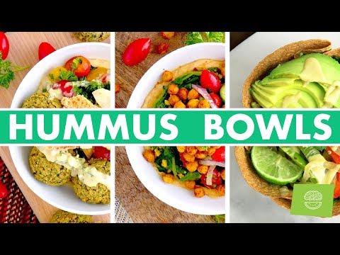 Vegan Hummus Buddha Bowls! Healthy Lunch Recipes - Mind Over Munch